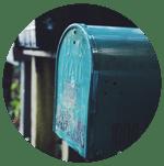 Teal mailbox